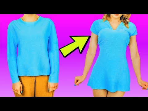 COOL AND SIMPLE CLOTHING LIFE HACKS / DIY Girls Hacks