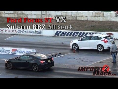 Ford Focus ST vs Subaru BRZ (stock)
