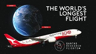The World's LONGEST Flight - QANTAS London to Sydney
