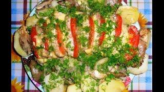 Праздничное блюдо свинина