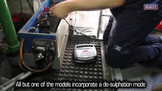 sealey schumacher battery charger range