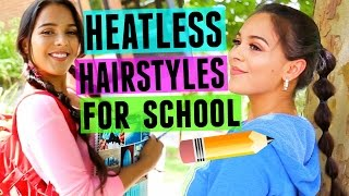 4 Fast & Fun Heatless Hairstyles for Back to School! NataliesOutlet