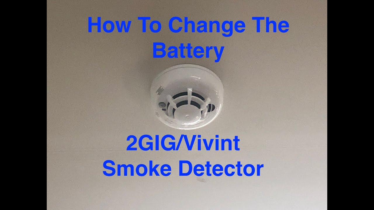 2gig Vivint Smoke Detector Battery Replacement Youtube