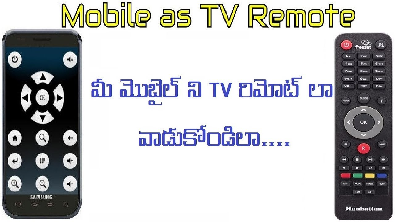 How to Use Your Mobile as Remote for Tv/Ac in Telugu