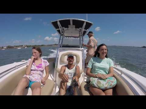 Cruising through st augustine on a 24 foot key west. Gopro +