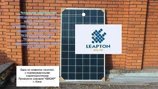 Солнечная батарея Leapton. Обзор от Кирпичей