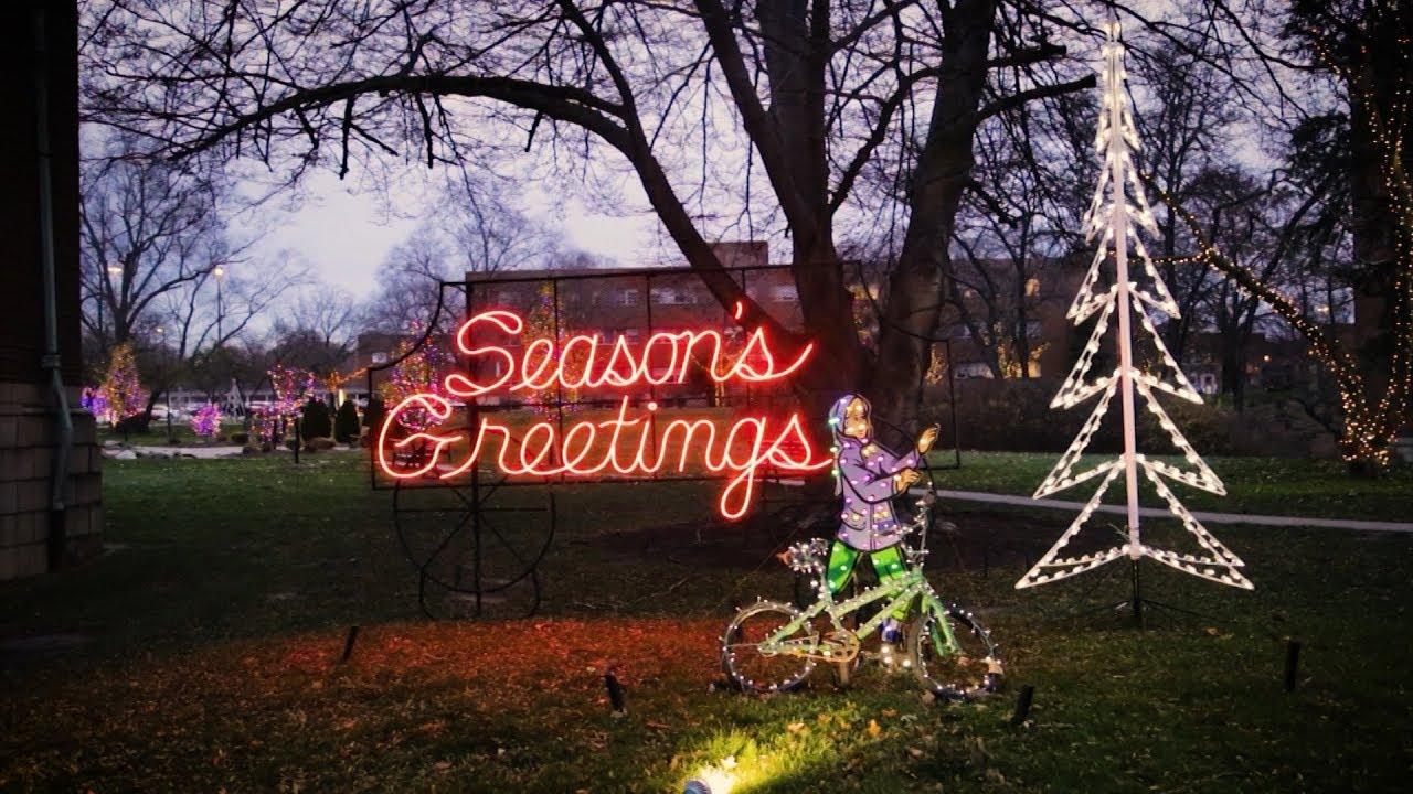 Nela Park Christmas Lights 2020 Touring Historic Holiday Lights Inside Nela Park   YouTube