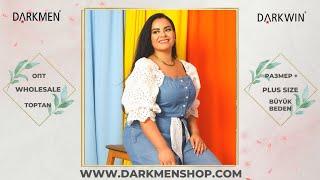 30 06 2021 3 Показ женской одежды больших размеров DARKWIN от DARKMEN Турция Стамбул Опт