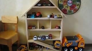 Детский гараж делаем для ребенка. Своими руками.