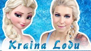 ♦ Elsa z Krainy Lodu - makijaż i włosy | Halloween ♦
