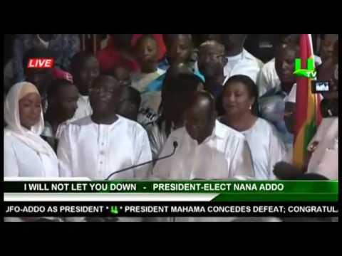 VIDEO:  Nana Addo's Entire Election Victory Speech