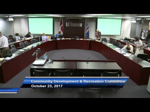 Community Development and Recreation Committee - October 23, 2017 - Part 1 of 2