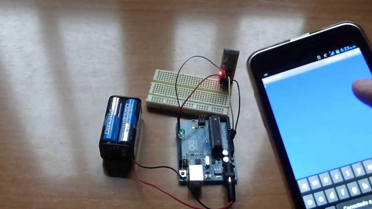 Encender led con móvil android arduino y modulo bluetooth