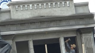 Decorating House Exterior With Columns And Cornices