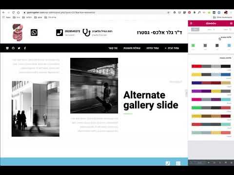 איך ליצור פלטת צבעים לאתר וורדפרס אלמנטור