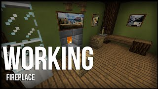 """WORKING FIREPLACE"" in MCPE that Doesn"