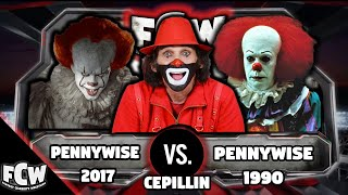 CEPILLIN VS PENNYWISE  (STEPHEN KINGS IT) | CELEBRITY FANTASY WRESTLING | WWE2K18 | (2018)