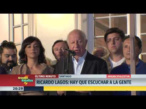 Ricardo Lagos entrega palabras de apoyo a Carolina Tohá