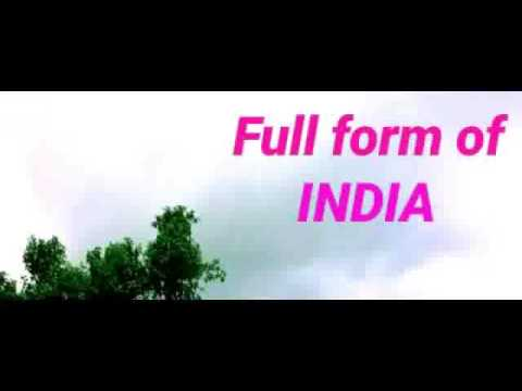 Full form of India - YouTube