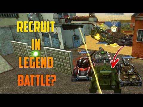 Tanki Online RECRUIT in LEGEND Battle - New Matchmaking Update (Glitch/Bug)