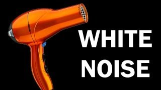 White Noise for babies, blow dryer ASMR 10 hours, relaxing video, sleep aide, hair dryer thumbnail