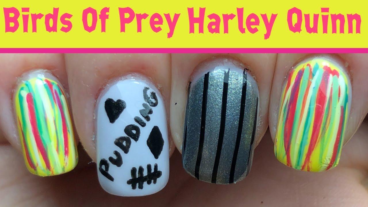 Birds Of Prey Harley Quinn Nails Youtube