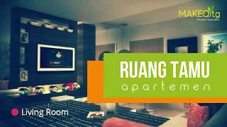 Ruang Tamu Apartemen Gaya Minimalis Modern ▲ Inspirasi Desain Interior Rumah