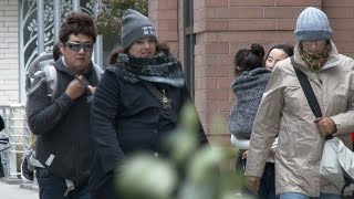 Strong Winds and cold weather hit New York City - 10/28/2016