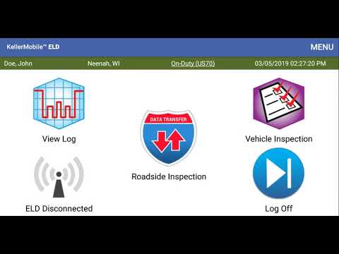 KellerMobile® for Android™ ELD Mandate - Quick Start to Common Daily  Functions