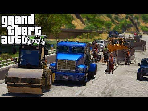 Road Work! GTA 5 Real Hood Life 2 #161