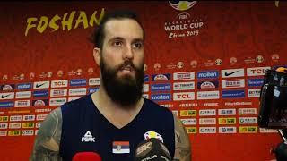 Miroslav Raduljica posle pobede nad Italijom u 3. kolu Svetskog prvenstva   SPORT KLUB KOŠARKA