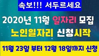 11월 23일 신청시작 일자리신청하세요^^