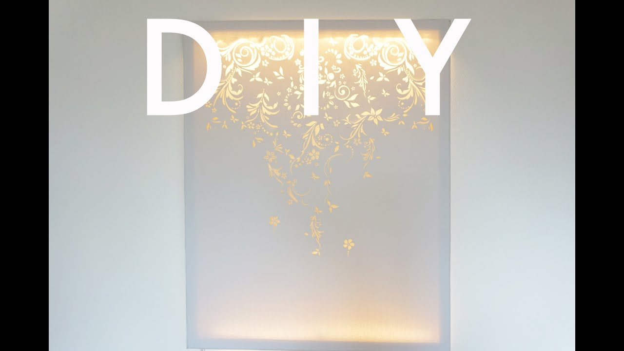 DIY | Canvas Wall Light | cynch makes - YouTube