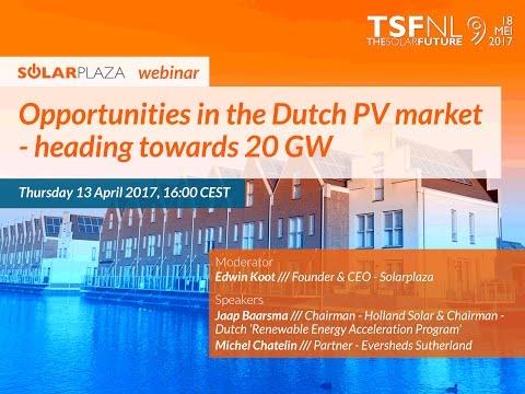 Solarplaza Webinar: Opportunities in the Dutch PV market - heading towards 20 GW