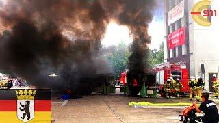 [BERLIN] Übung außer Kontrolle - Tribüne evakuiert - Feuer Produktionslinie - Feuerwehr - TdoT18