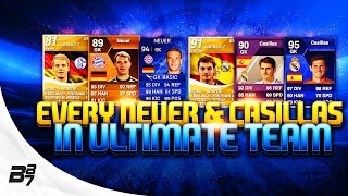 EVERY NEUER AND CASILLAS CARD ON ULTIMATE TEAM!