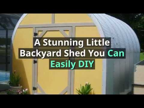 A Stunning Little Backyard Shed You Can Easily DIY