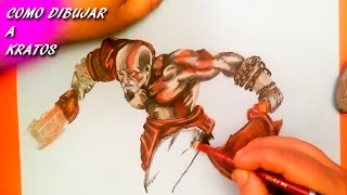 Como Dibujar a Kratos de God of War / How To Draw Kratos