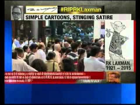 Legendary cartoonist RK Laxman accorded state funeral