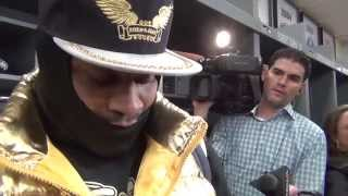 "Marshawn Lynch Panthers post game interview 1/10  ""I"