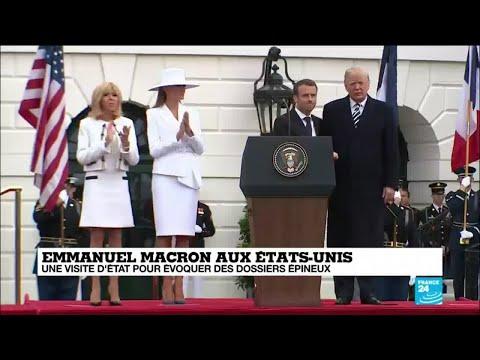 REPLAY - Discours de Donald Trump et d''Emmanuel Macron lors de la cérémonie d''accueil à la Maison