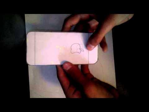 телефон из бумаги часть 3