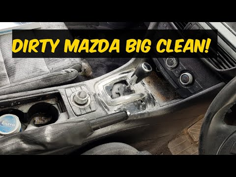 Cleaning the dirtiest mazda car ever! 6
