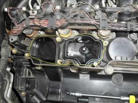 как заменить клапан рециркуляции карторных газов на бмв е-46 двигатель м-54