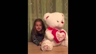 Обзор от Сони, мягкий Белый Медведь (50 см), umka.kh.ua