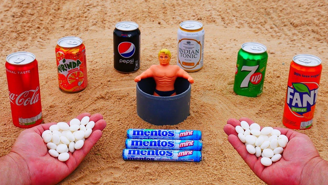 Coca Cola, Mirinda, Indian Tonic, 7up, Pepsi, Fanta SPA vs Stretch Armstrong and Mentos Underground