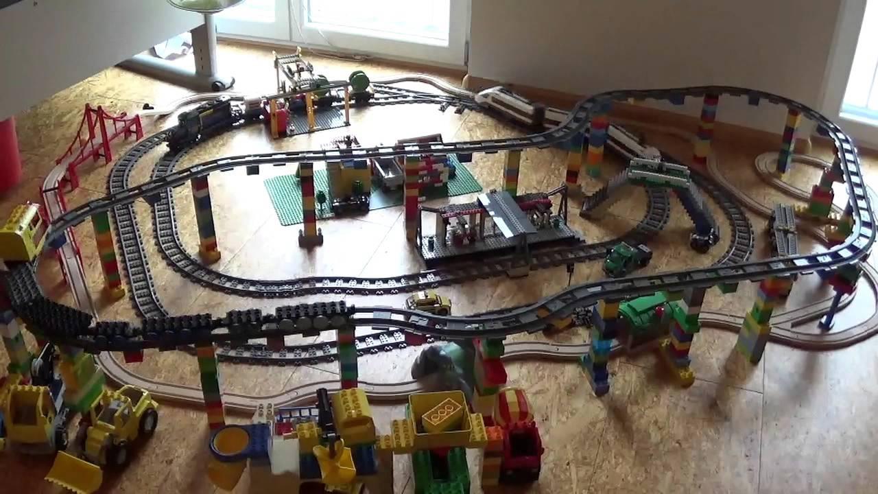 Eisenbahnen im kinderzimmer lego city duplo und - Lego kinderzimmer ...