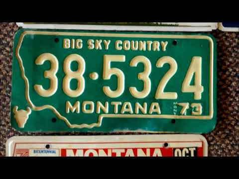 56 counties of MT license plates selected at random
