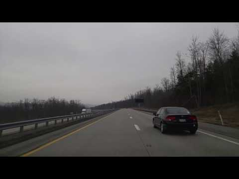 Driving on I-99 from Tyrone to State College,Pennsylvania