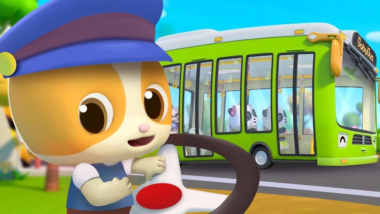 はたらく車☆ バス☆子供向け乗り物知育動画 | 赤ちゃんが喜ぶ歌 | 子供の歌 | 童謡 | アニメ | 動画 | ベビーバス| BabyBus